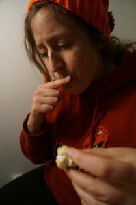 Eating a Stuffed Mushroom