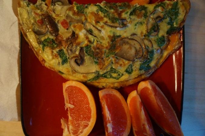 Mushroom Omelet for Breakfast
